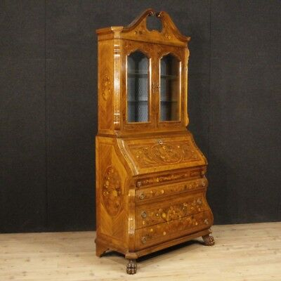Trumeau Fore Secretaire Showcase Dresser Dresser Secretary Desk Wooden Inlaid