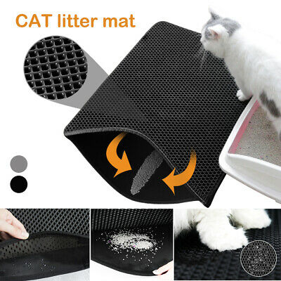 Cat litter pad Kitten Trapping Mat Double-Layer Honeycomb Foldable Tray Trap Pad