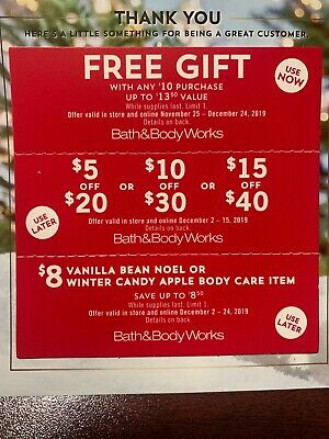 3 Bath And Body Works Coupons