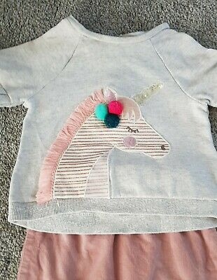 Next Baby Girl Next & Monsoon Outfit Unicorn 3-6 Months