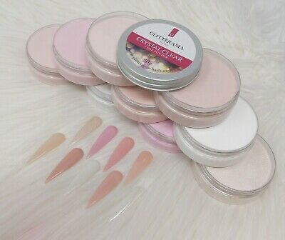Nude Coloured Acrylic Powder Glitterama Nails Core Collection bundle clear pink