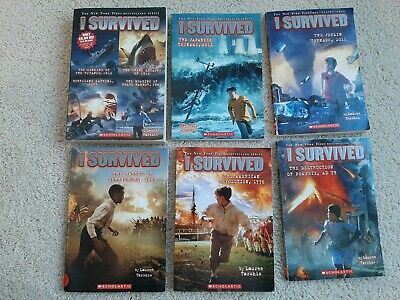 "Lot of 6 ""I Survived..."" Paperback books by Lauren Tarshis (9 Stories)"