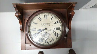 Wall clock antique connell cheapside with frame mahogany fusee
