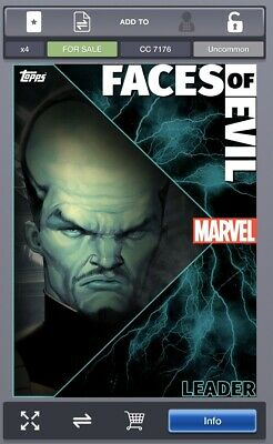 TOPPS MARVEL COLLECT CARD FACES OF EVIL Leader