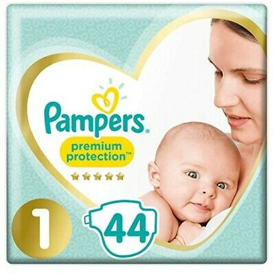 Pampers Premium Protection couches New Baby Taille 1 (2-5 kg), Lot de 88 couches