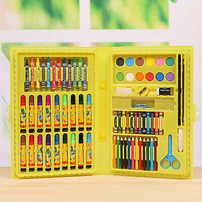 86PCS Kids Painting Drawing Set with Colored Pencils Marker Pens Crayons