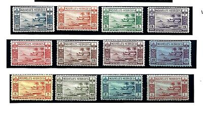 New Hebrides (L137) 1938 French Sgf53-64 Full Set Of 12 Mm / Mh  See Scan
