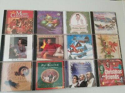 Assorted CDs Lot of 12  CHRISTMAS CDS Different Types of Artists/Bands