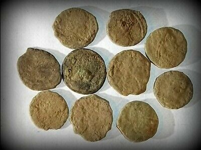 10 ANCIENT ROMAN COINS AE3 - Uncleaned and As Found! - Unique Lot 32810