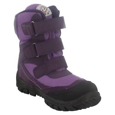 Clarks Girls Snow Day G Purple Synthetic Winter Boots UK Size 11 F
