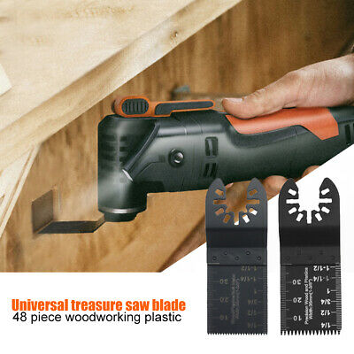 48Pcs Multi Functional Woodworking Saw Blade Tool Wood Slotted Tipped Blades Kit