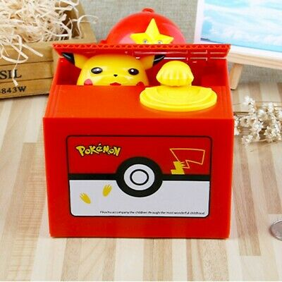 Pokemon-Go Xmas Pikachu Inspired Moving Electronic Coin Piggy Bank Toys Gifts US