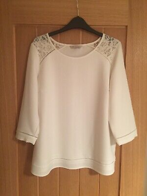 womens MARKS and SPENCER size 14 Ivory Top Never Worn Immaculate Winter Fashion