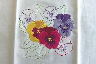 Embroidered Beautiful Floral Designs With Outline Accent