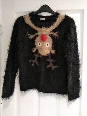Next girls christmas jumper age 11 reindeer