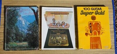 Lot of 3 1970s Guitar Books Crosby Stills Nash & Young, 100 Super Gold + Easy