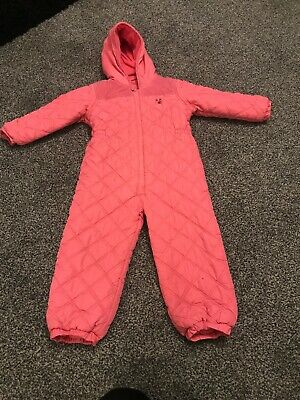 Girls Next Pink Snowsuit 4-5 Xcon Winter All In One Snow Ski Suit