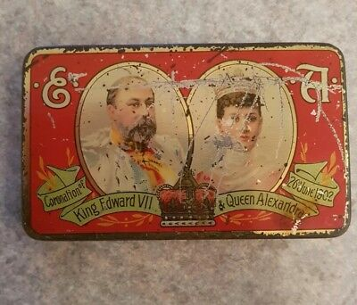 Cadbury's Tin - Coronation King Edward VII & Queen Alexandra - 1902