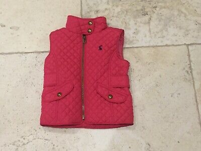 Joules girls pink quilted gilet - very good condition age 3 years