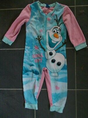 Disney Frozen Olaf Fleecy All In One Pyjamas Age 3/4 Years