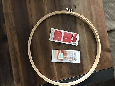 Embroidery Hoop +2 Packs Needles