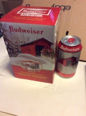 2019 Budweiser Holiday stein beer mug Christmas WINTER PASSAGE With Matching Can