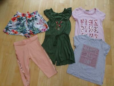 NEXT girls 5 piece summer clothes bundle playsuit t shirt shorts AGE 9 YEARS
