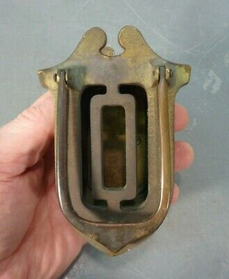 Antique Brass Speakeasy Peephole Doorknocker Vtg
