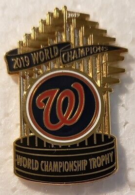 WASHINGTON NATIONALS 2019 WORLD SERIES CHAMPIONS Trophy Lapel Pin
