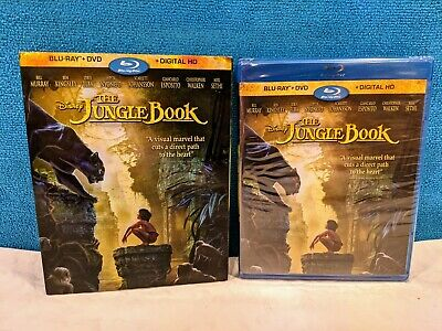 The Jungle Book (Blu-ray/DVD, 2016, Includes Digital Copy) Factory Sealed