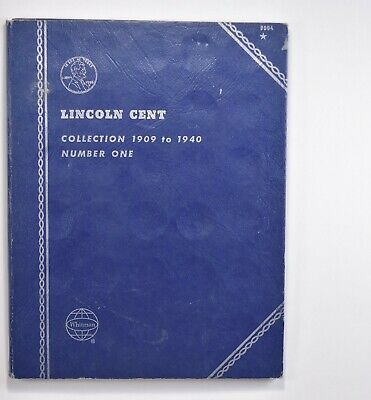 Partial Set 1909-1940 Lincoln Wheat Cent Album - Early Dates Collection *688