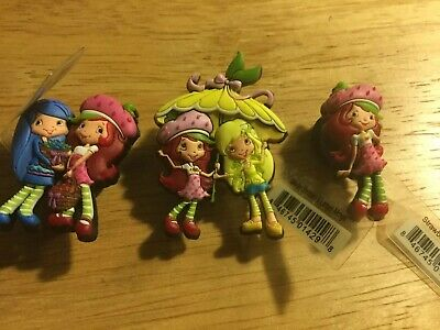 Lot Of 3 Strawberry Shortcake Set Charms Croc Shoes Jibbitz Bracelets