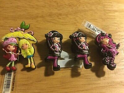 Lot Of 4 Strawberry Shortcake Set Charms Croc Shoes Jibbitz Bracelets