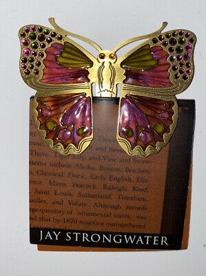 JAY STRONGWATER  Bookmark Cerise Butterfly Swarovski Crystals Book Mark New