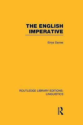 The English Imperative by Eirlys Davies (English) Paperback Book Free Shipping!
