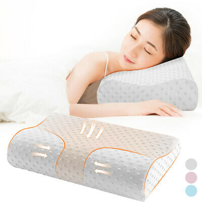 Memory Foam Pillow Bamboo Pillow Cervical Pillow for Neck Pain Support for Back