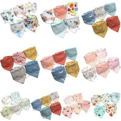 5 Pcs/Pack Baby Feeding Bibs Infant Scarf Towel Bandana Saliva Triangle r