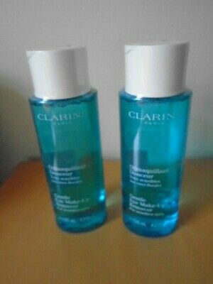 2 x CLARINS Gentle Eye Make-up Remover 125ml each Brand New Sealed Free UK post