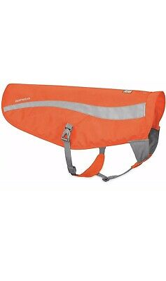 Ruffwear Track Jacket High Visibility Reflective Safety Dog Vest Blaze Orange