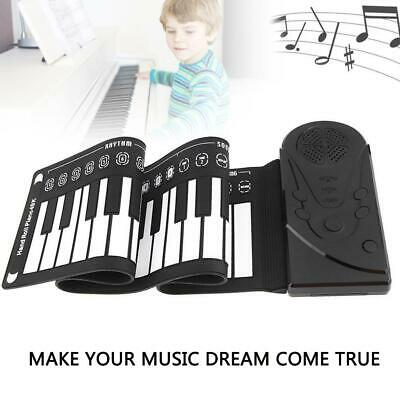 49 Keys Portable Flexible Roll-Up Piano Electronic Keyboard Hand Roll For Kids