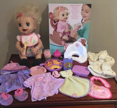 Baby Alive Learn To Potty Doll & Bundle Of Accessories  Great Cond.