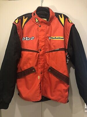 Hebo Adults Motorbike Trials Jacket Thinsulate Red Black Large