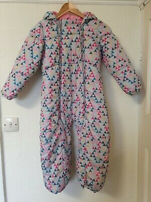 Girls Snowsuit All In One Winter Playsuit Coat Jacket Age 5 6 Years