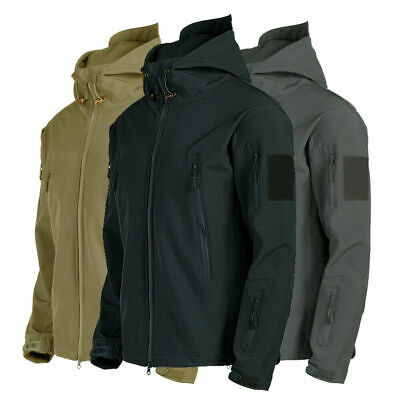 UK Men Outdoor Waterproof Winter Jacket Coat Soft Shell Tactical Military Jacket