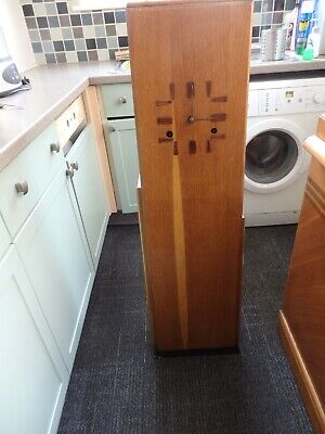 Stunning Vintage Art Deco Light Oak Grandmother Clock Case.