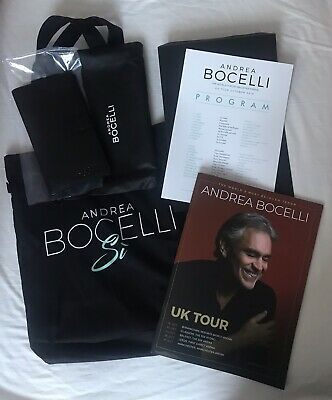 Andrea Bocelli VIP SI Diamond Pack Manchester Program