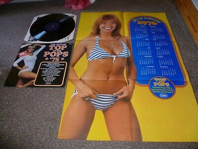 Top Of The Pops Vinyl Lp 75 With Rare Giant Calendar !! 1975 Superb Play !!