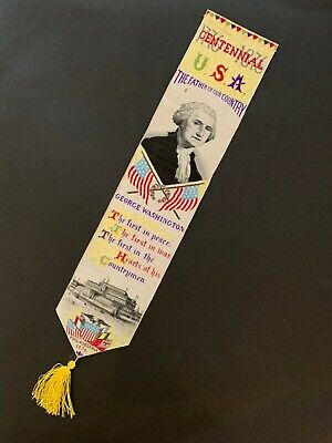 Original 1876 Centennial George Washington Ribbon