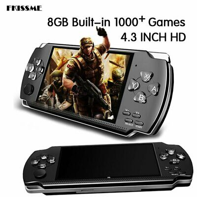 "UK X6 PSP 8G 64Bit Handheld Game Console Player Games Portable 4.3"" Gift"