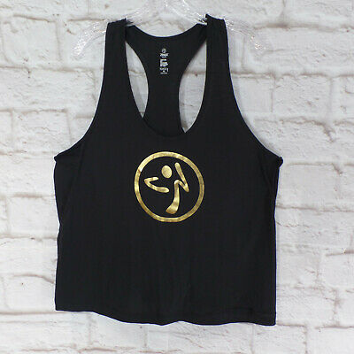 Lg Zumba Dance Outside INSTRUCTOR Loose Tank Top XL Med Yellow size XS Sm